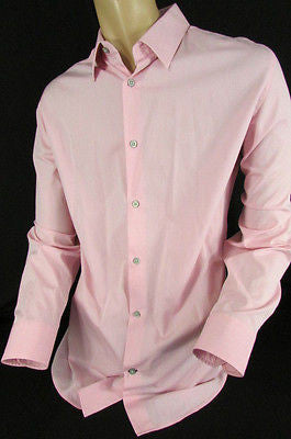 Banana Republic Men Pink Button Down Dress Shirt Long Sleeves Classic Large - alwaystyle4you - 1