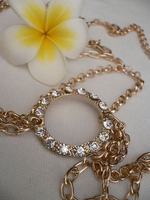 New Miami Beach Women Gold Big Ring Metal Head Chain Jewelry Hair Accessories - alwaystyle4you - 8