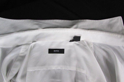 Hugo Boss Men White Button Down Dress Shirt Long Sleeves Classic Large 16 34-35 - alwaystyle4you - 4