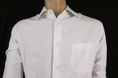 White Button Down Dress Shirt Long Sleeves Classic Hugo Boss New Men Fashion Size Large