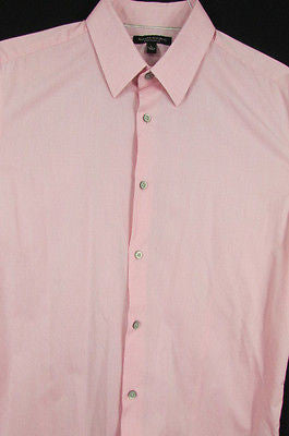Banana Republic Men Pink Button Down Dress Shirt Long Sleeves Classic Large - alwaystyle4you - 11