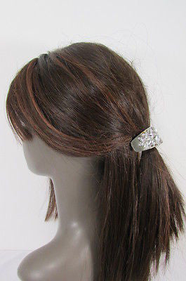 Sexy Women Silver Metal Ponytail Holder Silver Rhinestones Fashion Hair Jewelry - alwaystyle4you - 4