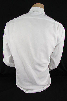 Hugo Boss Men White Button Down Dress Shirt Long Sleeves Classic Large 16 34-35 - alwaystyle4you - 11