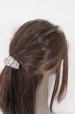 Sexy Women Silver Metal Ponytail Holder Silver Rhinestones Fashion Hair Jewelry - alwaystyle4you - 8