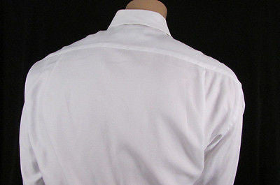 Hugo Boss Men White Button Down Dress Shirt Long Sleeves Classic Large 16 34-35 - alwaystyle4you - 7