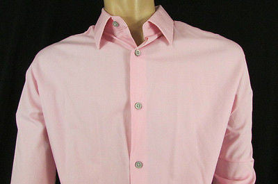 Banana Republic Men Pink Button Down Dress Shirt Long Sleeves Classic Large - alwaystyle4you - 2