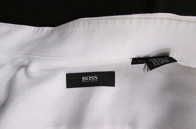 Hugo Boss Men White Button Down Dress Shirt Long Sleeves Classic Large 16 34-35 - alwaystyle4you - 2
