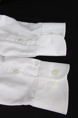 Hugo Boss Men White Button Down Dress Shirt Long Sleeves Classic Large 16 34-35 - alwaystyle4you - 6