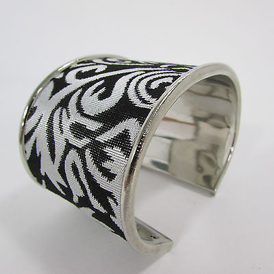 "Silve Metal Cuff Bracelet Unique Leaves Detail 2"" Long New Women Fashion Jewelry Accessories - alwaystyle4you - 7"