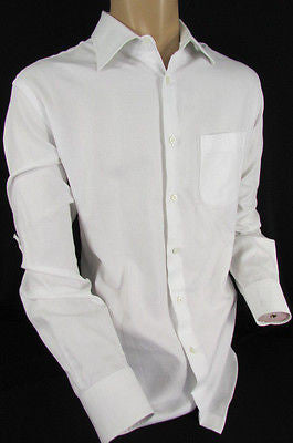 Hugo Boss Men White Button Down Dress Shirt Long Sleeves Classic Large 16 34-35 - alwaystyle4you - 9