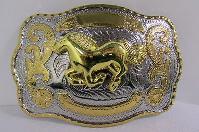 Silver Metal Belt Buckle Gold 3D Texas Rodeo Large Horse Men Women Fashion Accessories
