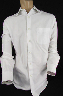 Hugo Boss Men White Button Down Dress Shirt Long Sleeves Classic Large 16 34-35 - alwaystyle4you - 3