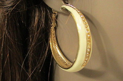 N. Women Gold White Metal Classic Hoop Fashion Earrings Set Multi Rhinestones - alwaystyle4you - 7