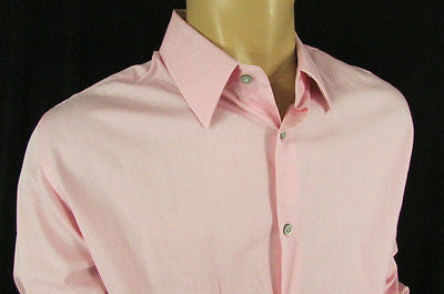 Banana Republic Men Pink Button Down Dress Shirt Long Sleeves Classic Large - alwaystyle4you - 7