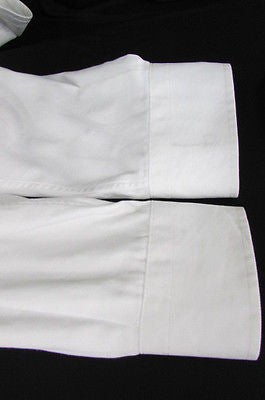 Hugo Boss Men White Button Down Dress Shirt Long Sleeves Classic Large 16 34-35 - alwaystyle4you - 12