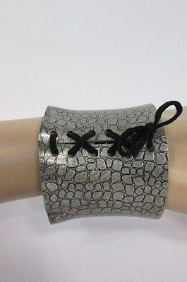 Silver Metal Bracelet Snake Stamp Corset Black Tie New Women Fashion Jewelry Accessories - alwaystyle4you - 7