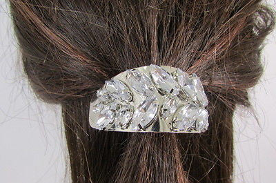 Sexy Women Silver Metal Ponytail Holder Silver Rhinestones Fashion Hair Jewelry - alwaystyle4you - 5