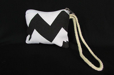 New Women Fashion Mini Purse Fabric Make Up Coin Wallet Chevron Print Rope Starp - alwaystyle4you - 14