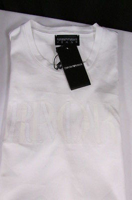 New Emporium Armani Men Signature White Fashion Authentic T-shirt Crew-neck Top Medium $195 - alwaystyle4you - 11