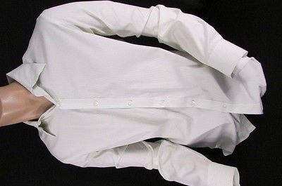 Theory Men White Button Down Dress Shirt Green Pin Stripes Classic Large 34-35 - alwaystyle4you - 12