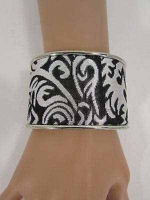 "Silve Metal Cuff Bracelet Unique Leaves Detail 2"" Long New Women Fashion Jewelry Accessories - alwaystyle4you - 8"