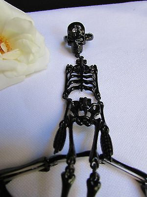 Hot Women Black Skeleton Hand Ring Chain Slave Long Bracelet Skull Fashion - alwaystyle4you - 9