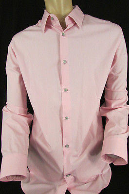 Pink Button Down Dress Shirt Long Sleeves Banana Republic New Men Classic Size Large