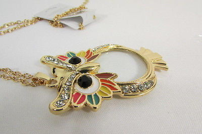 New Women Long Fashion Necklace Thin Gold Chains Owl Magnifying Glass Pendant - alwaystyle4you - 11