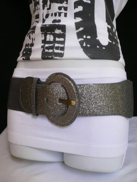 Gray / Dark Gray / Black / Gold / Brown / Brown Bronze / Red Elastic Hip Waist Sparkling Belt New Women Fashion Accessories XS To XL - alwaystyle4you - 4