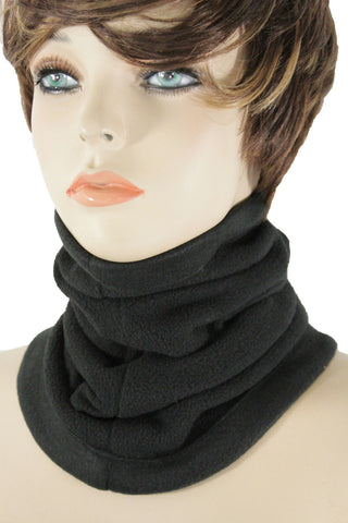 Black White Scarf Turtle Neck Warmer Head Cover Loop Mask Hat Sport Men Women Accessories