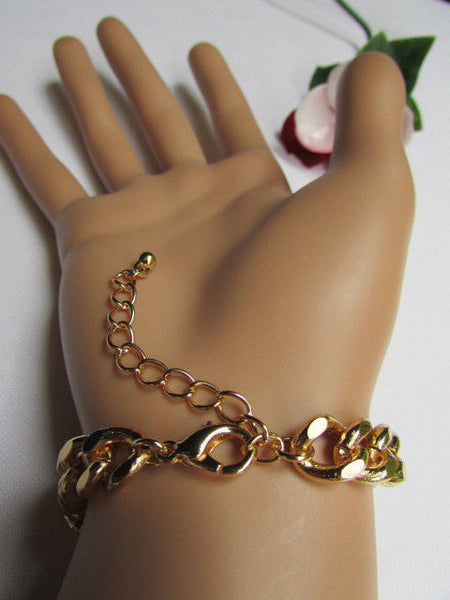 Gold Metal Thick Light Chains Bracelet Big Lion Head Trendy New Women Fashion Jewelry Accessories - alwaystyle4you - 2