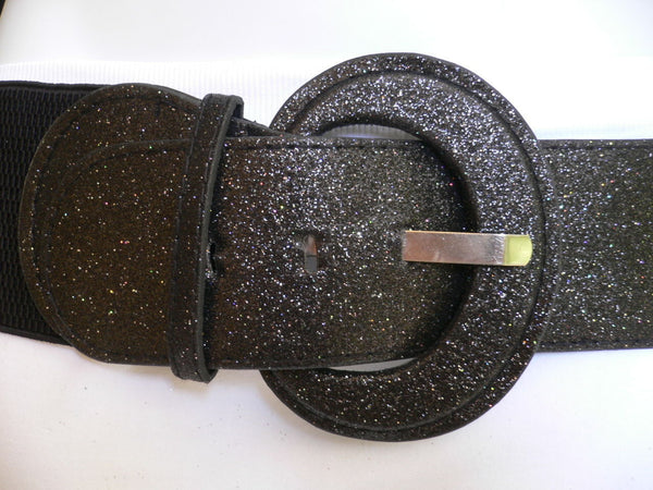 Gray / Dark Gray / Black / Gold / Brown / Brown Bronze / Red Elastic Hip Waist Sparkling Belt New Women Fashion Accessories XS To XL - alwaystyle4you - 58