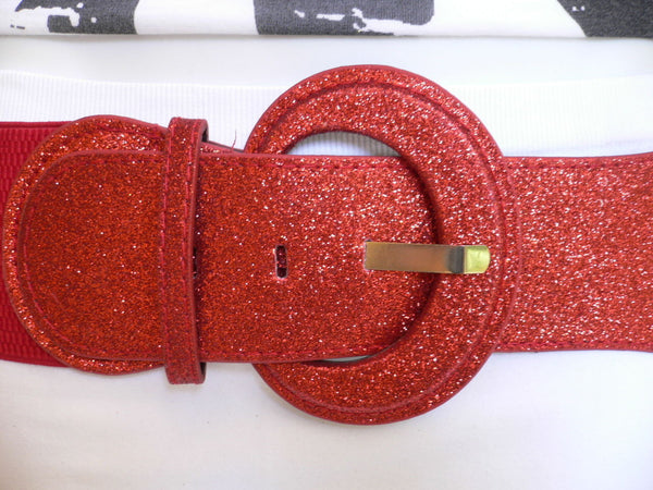 Gray / Dark Gray / Black / Gold / Brown / Brown Bronze / Red Elastic Hip Waist Sparkling Belt New Women Fashion Accessories XS To XL - alwaystyle4you - 67