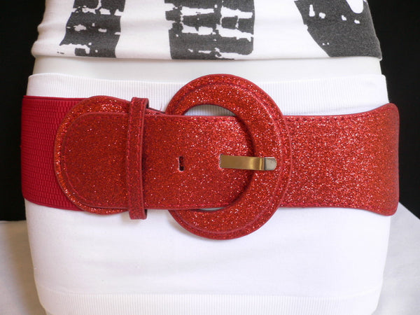 Gray / Dark Gray / Black / Gold / Brown / Brown Bronze / Red Elastic Hip Waist Sparkling Belt New Women Fashion Accessories XS To XL - alwaystyle4you - 70