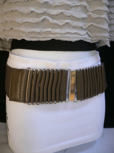 Beige Black Gray Brown Wide Waist Hip Belt Silver Metal Buckle New Women Fashion Accessories XS S M - alwaystyle4you - 16