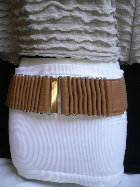 Beige Black Gray Brown Wide Waist Hip Belt Silver Metal Buckle New Women Fashion Accessories XS S M - alwaystyle4you - 30