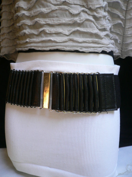 Beige Black Gray Brown Wide Waist Hip Belt Silver Metal Buckle New Women Fashion Accessories XS S M - alwaystyle4you - 32