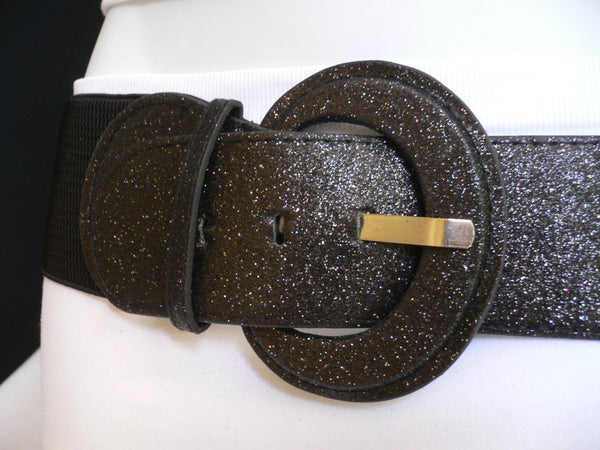 Gray / Dark Gray / Black / Gold / Brown / Brown Bronze / Red Elastic Hip Waist Sparkling Belt New Women Fashion Accessories XS To XL - alwaystyle4you - 55