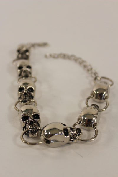 Silver Metal Boot Bracelet Chains Skulls Anklet Shoe Charm New Women Western style Fashion Jewelry - alwaystyle4you - 9
