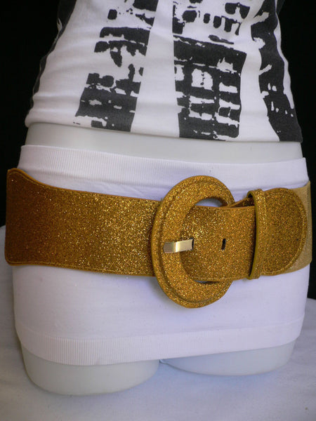 Gray / Dark Gray / Black / Gold / Brown / Brown Bronze / Red Elastic Hip Waist Sparkling Belt New Women Fashion Accessories XS To XL - alwaystyle4you - 21