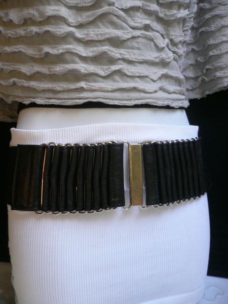 Beige Black Gray Brown Wide Waist Hip Belt Silver Metal Buckle New Women Fashion Accessories XS S M - alwaystyle4you - 34