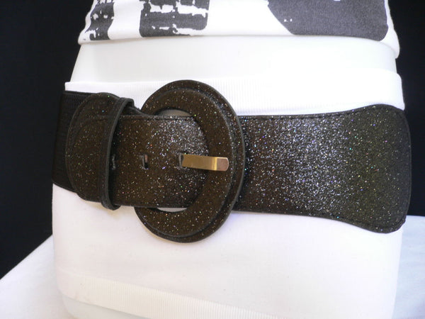 Gray / Dark Gray / Black / Gold / Brown / Brown Bronze / Red Elastic Hip Waist Sparkling Belt New Women Fashion Accessories XS To XL - alwaystyle4you - 7