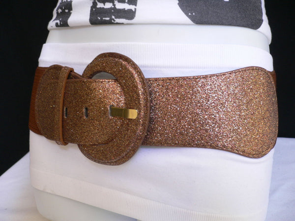 Gray / Dark Gray / Black / Gold / Brown / Brown Bronze / Red Elastic Hip Waist Sparkling Belt New Women Fashion Accessories XS To XL - alwaystyle4you - 43