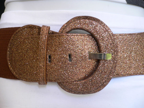 Gray / Dark Gray / Black / Gold / Brown / Brown Bronze / Red Elastic Hip Waist Sparkling Belt New Women Fashion Accessories XS To XL - alwaystyle4you - 8
