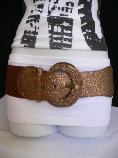 Gray / Dark Gray / Black / Gold / Brown / Brown Bronze / Red Elastic Hip Waist Sparkling Belt New Women Fashion Accessories XS To XL - alwaystyle4you - 6