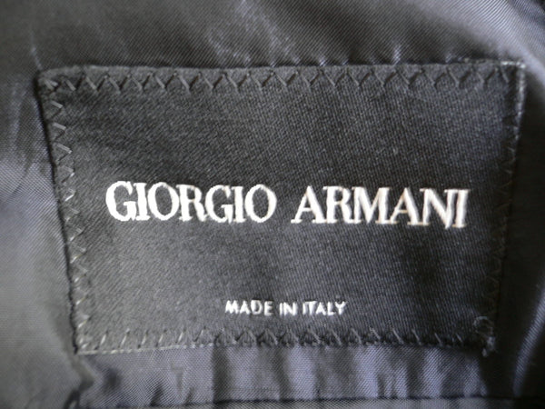 Black Wool 2pcs Jacket Pants Classic Giorgio Armani Suit Men New Fashion Size Medium $3775