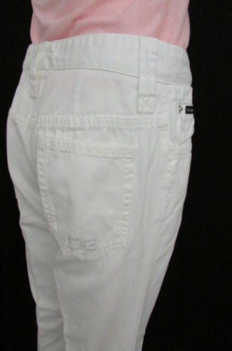White Casual Denim Jeans Pants Wide Leg Dolce & Gabbana Women D&G New Fashion Size American 8 / 30