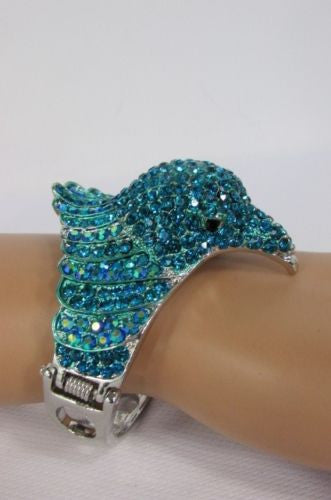 Black Blue Hot Pink Metal Cuff Bracelet Eagle Head Bird New Women Fashion Jewelry Accessories - alwaystyle4you - 17