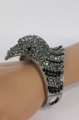 Black Blue Hot Pink Metal Cuff Bracelet Eagle Head Bird New Women Fashion Jewelry Accessories - alwaystyle4you - 13