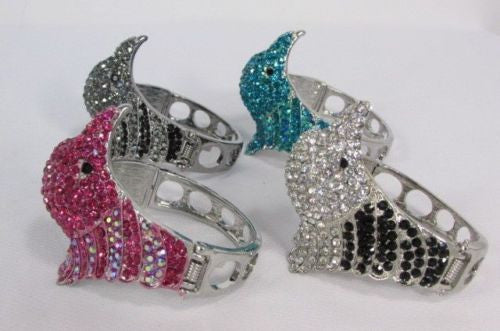 Black Blue Hot Pink Metal Cuff Bracelet Eagle Head Bird New Women Fashion Jewelry Accessories - alwaystyle4you - 5